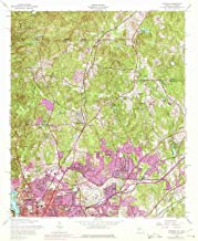 YellowMaps Fortson GA topo map, 1:24000 Scale, 7.5 X 7.5 Minute, Historical, 1955, Updated 1975, 26.8 x 22 in