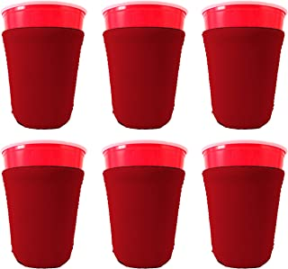 Blank Neoprene Solo Cup Collapsible Coolie (6, Red)