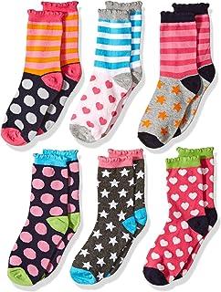 Girls' Little Girls' Dots/Hearts/Stripes Fashion Crew...