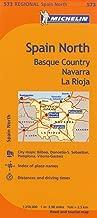 Michelin Spain: North, Basque Country, Navarra, La Rioja Map 573 (Maps/Regional (Michelin))