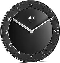 ساعة حائط براون كلاسيك انالوج مع حركة كوارتز هادئة، سهلة القراءة، قطر 20 سم، اسود، موديل BC06B، مقاس واحد