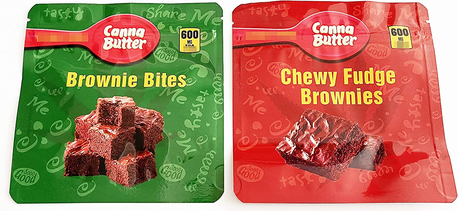 10 PCS Packaging Bags All stores are sold Canna Houston Mall Butter Bites Chewy Mix Fudge Brownie