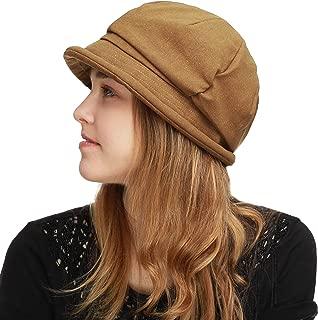 BLACK HORN Womens Newsboy Cabbie Beret Cap Cloche Bucket Fashion Sun Hats