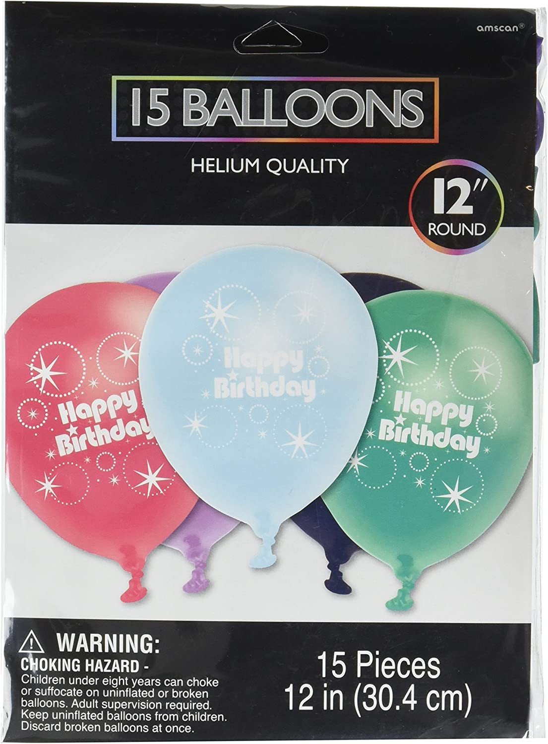 Amscan Time to Party Printed Balloons Decoration, Pack of 20, Multi, 12  Latex Supplies , 240 Pieces