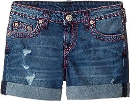 Audrey Super T Boyfriend Shorts in Used Wash (Big Kids)