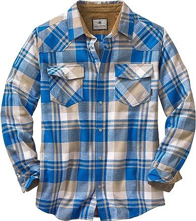 Legendary Whitetails Men's Shotgun Western Long Sleeve Button Up Flannel Shirt