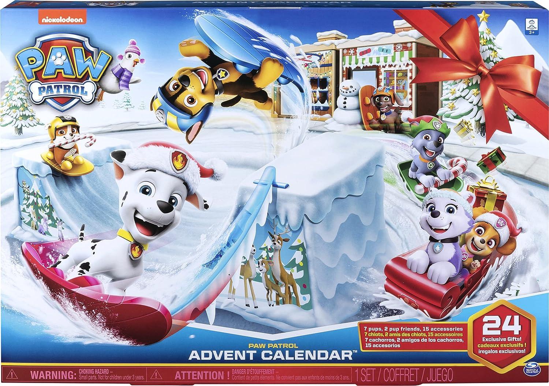 PAW Patrol - Adventskalender mit Sammelfiguren und Winterlandschaft