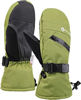 Men's Thinsulate Insulated Touchscreen Ski Mittens with Zippered