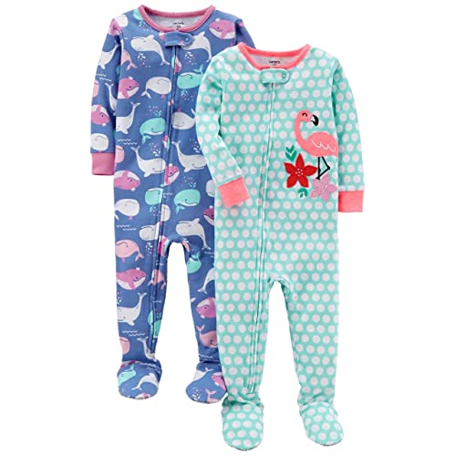 Carter s Baby Girls  2-Pack Cotton Footed Pajamas 12e4c71ee