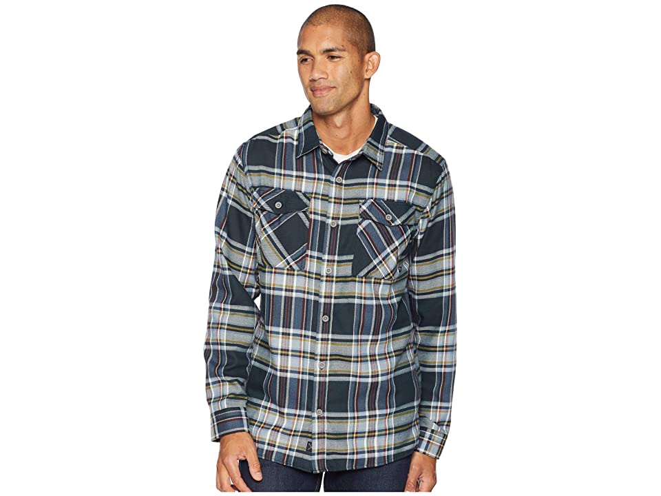Mountain Hardwear Trekkintm Flannel Long Sleeve Shirt (Blue Spruce) Men