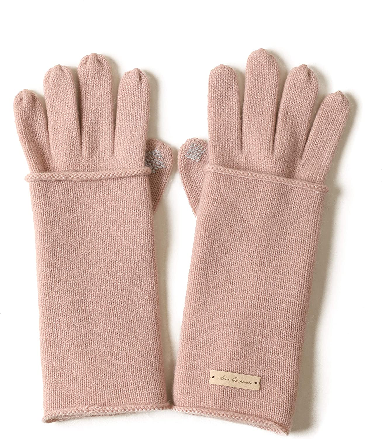 Screen Touch Function Dualuse Winter Fashion Womens Five-finger and Fingerless Gloves Warm 100% Cashmere Knitted Gloves
