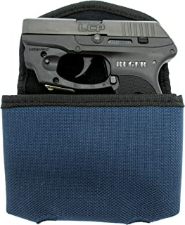 BLUE Gun Pistol Belt Waist Pack by Bulldog for S&W BODYGUARD 380, RUGER LCP 380, LCP II, KEL-TEC 32 380, TAURUS TCP 380, KAHR P380, NAA GUARDIAN 32 380, With or Without Under-the-Barrel Laser.