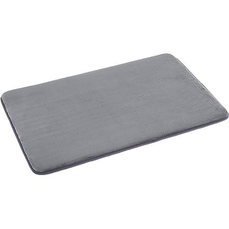 Amazon Basics Tapis de bain en mousse à mémoire de forme Gris 46 x 71 cm