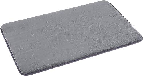 Amazon Basics - Alfombrilla de baño de espuma con memoria, 46 x 71 cm, gris