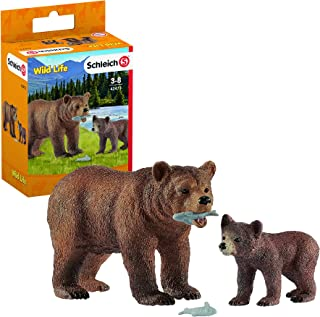Schleich Grizzly Bear Mother with Cub Toy