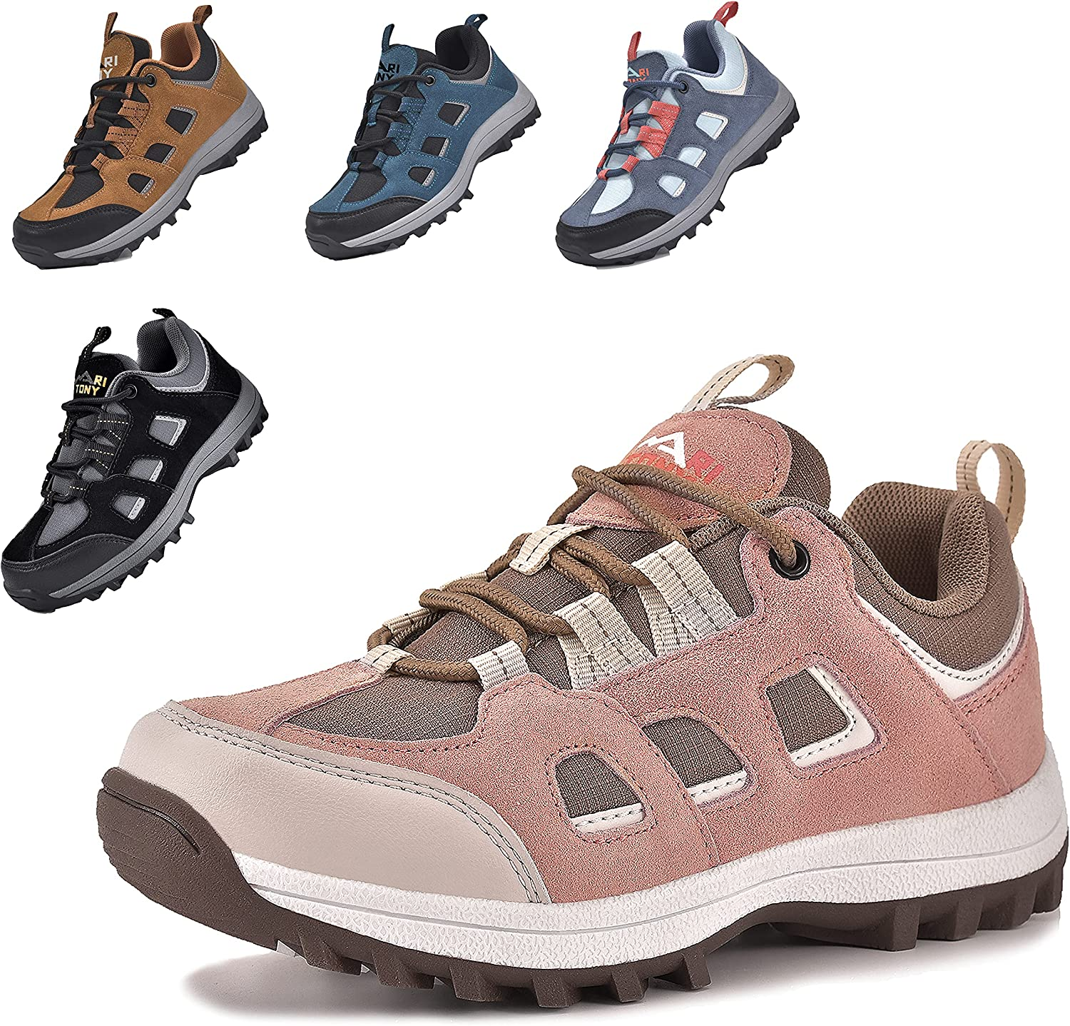 MARITONY Unisex-Child Hiking Shoes for Kids Sneakers Boys Girls Anti Collision Outdoor Running Athletic Shoe Non-Slip Sneaker