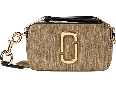 Marc Jacobs Snapshot Glitter Stripe Crossbody (Gold) Cross Body Handbags