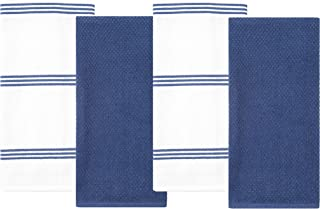 Sponsored Ad - Sticky Toffee Cotton Terry Kitchen Dish Towel, 4 Pack, 28 in x 16 in, Dark Blue Stripe