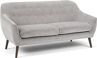 Simpli Home AXCBRN-03-DG Brennley Mid Century Modern 72 inch Wide Sofa in Dove Grey Chenille Look Fabric