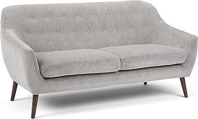Amazon.com: fat june SF089 3S BL545 Light Grey Larsen Sofa ...