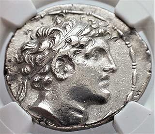 GR 152-145 BC Ancient Seleucid Empire Alexander I Antique Silver Coin Rare Coins AR Tetradrachm Choice Extremely Fine NGC