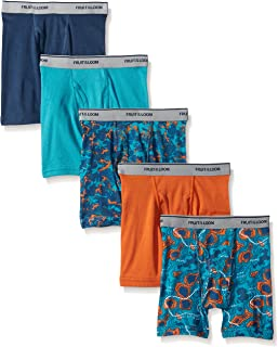 Fruit of the Loom Big Boys' Assorted Boxer Brief , Print/Solid, Large (Pack of 5)