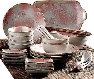 Hunkie Six-person ceramic tableware set of 24 pieces (romantic)