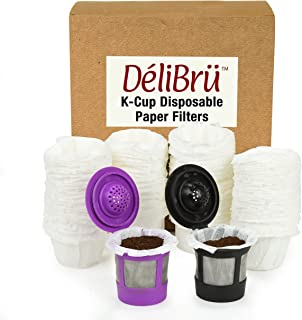Delibru Paper Filters for Reusable K Cups (300/Box) Fits All Brands - Disposable