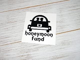 Honeymoon Fund Vinyl Decal Sticker, DIY Bank, money jar-Pick Color