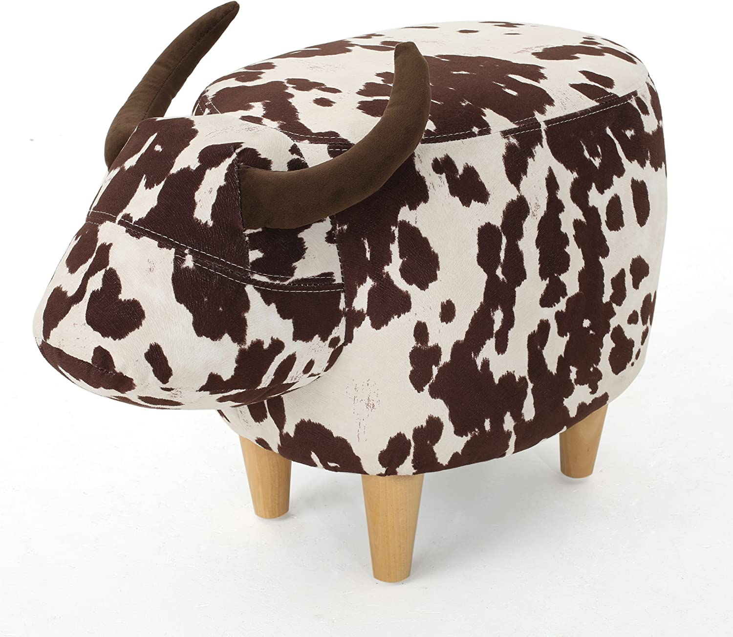 Recommended Seattle Mall Christopher Knight Home Bessie Patterned Cow Bro Ottoman Velvet