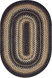 Kilimanjaro Premium Braided Jute Rug by Homespice, 5' x 8' Oval Brown Color, Reversible Imported Jute Yarn, Higher Quality, Longer Lasting, Longer Wear - 30 Day Risk Free Purchase