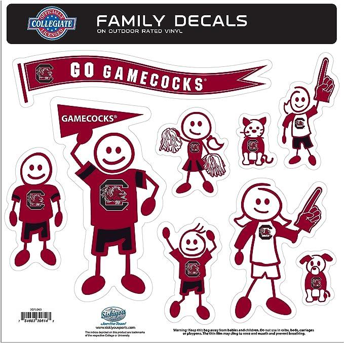 Ncaa South Carolina Fighting Gamecocks Family Character Aufkleber Groß Sport Freizeit
