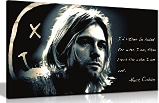 Panther Print Kurt Cobain Qoute Rather Be Hated Canvas Print Poster 30X16 Inches