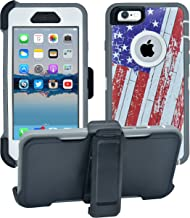 AlphaCell Cover compatible with iPhone 6/6S (NOT Plus)   2-in-1 Screen Protector & Holster Case   Full Body Military Grade Protection with Carrying Belt Clip   Protective Drop-proof Shock-proof