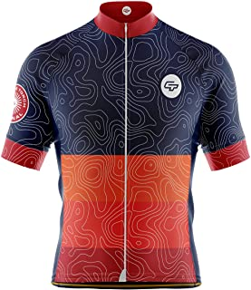 Cycle Torch Men's Short Sleeve Cycling Jersey, Full Zipper Bike Jersey