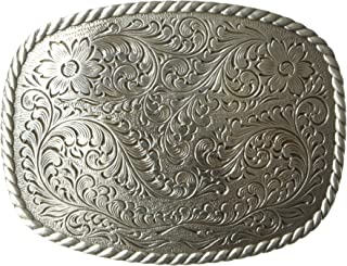 Nocona Men's Silver Rounded Square Buckle