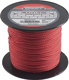 Connex Metselaarsnoer rood - 100 m lengte - Ø 1,7 mm - gevlochten polypropyleen - knoopvast - scheurvast & belastbaar - op...