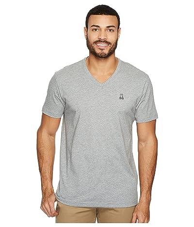 Psycho Bunny V-Neck Heather T-Shirt (Heather Grey) Men