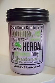 Swan Creek Candle Co. 12 ounce Kitchen Pantry Jar (Lavender & Lemongrass)