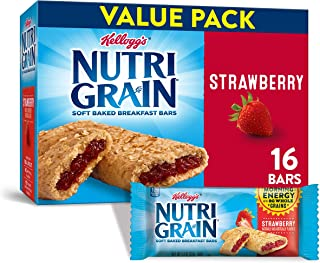 Sponsored Ad - Kellogg's Nutri-Grain, Soft Baked Breakfast Bars, Strawberry, Made with Whole Grain, Value Pack, 20.8 oz (P...