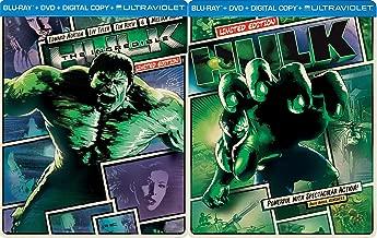 Marvel Comics The Incredible Hulk Steelbook Collection - Hulk [2003] (Limited Edition Steelbook) & The Incredible Hulk [2008] (Limited Edition STeelbook)