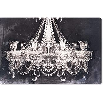 """The Oliver Gal Artist Co. Fashion and Glam Wall Art Canvas Prints 'Dramatic Entrance Night' Home Décor, 24"""" x 16"""", Black"""
