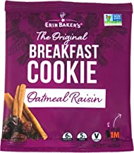 Erin Baker's Breakfast Cookies, Oatmeal Raisin, Whole Grain, Vegan, Non-GMO, 3-ounce (Pack of 12)
