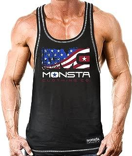 Monsta Clothing Co. Men's USA: Unleash Savage Aggression (RCBK198) Tanktop