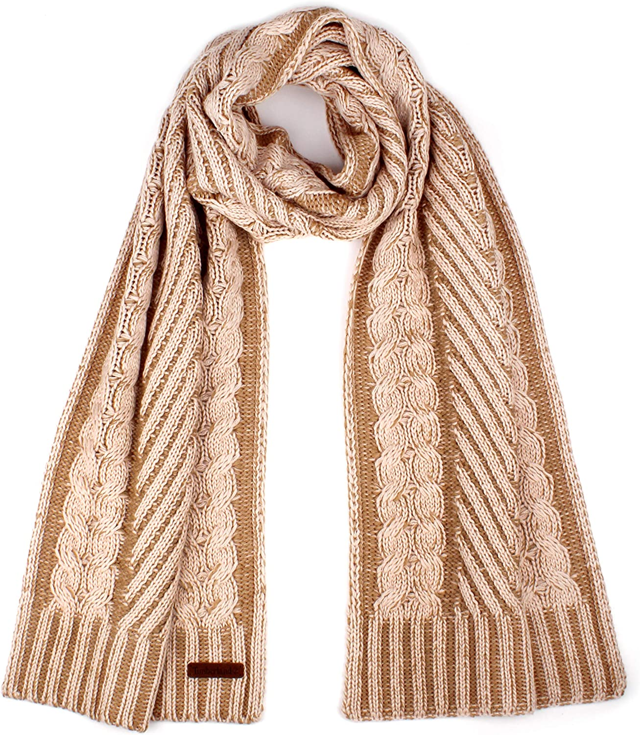 Timberland womens Plaited Cable Scarf