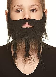Mustaches Fake Beard, Self Adhesive, Novelty, Small, Braided Sea Captain False Facial Hair, Costume Accessory for Kids