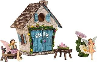Mystic Garden Fairy Garden Kit; Believe House and 9 Fairy Garden Accessories for Indoor/Outdoor Decoration; Garden & Home Decor