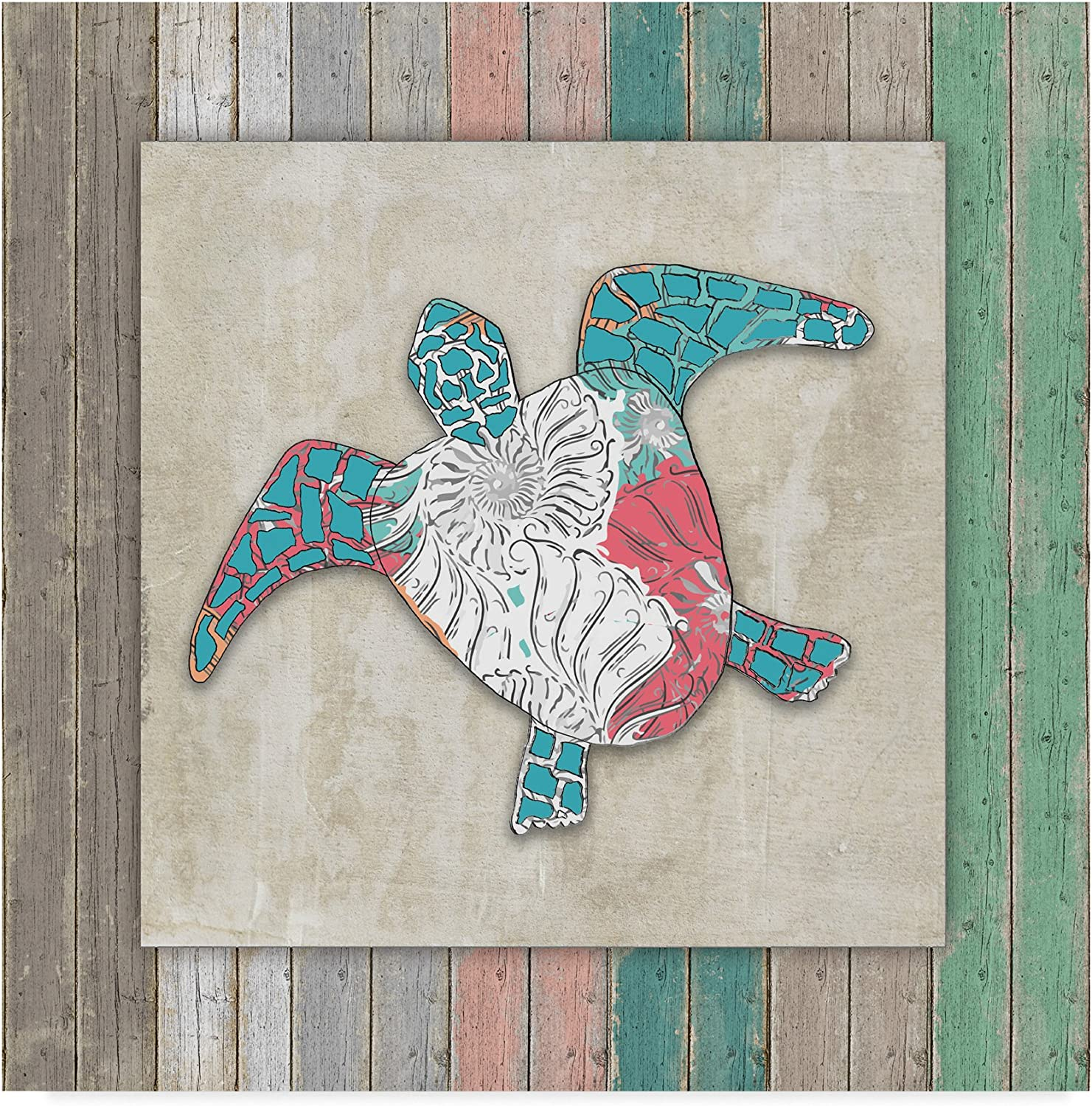 Wood Frame Turtle by Lightboxjournal, 14x14-Inch