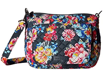 Vera Bradley Carson Mini Shoulder Bag (Pretty Posies) Cross Body Handbags