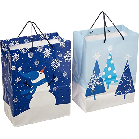 Bonus Gift Tags and String Drawstring gift bags for any occasion. Set x 12 and Set x 20 Christmas bags for gifts Gift bags assorted sizes and colors